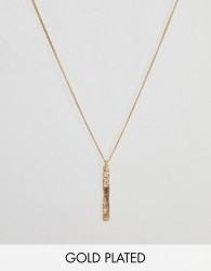 Pilgrim gold plated bar necklace - Gold