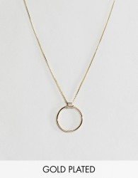 Pilgrim gold plated circle necklace - Gold