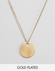 Pilgrim gold plated disc necklace - Gold