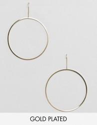 Pilgrim gold plated large hoop earrings - Gold