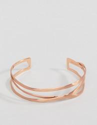 Pilgrim rose gold plated chunky bracelet - Gold