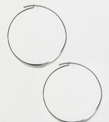 Pilgrim silver plated hoop earrings - Silver