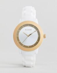 Pilgrim Watch With White Strap - White