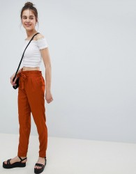 Pimkie Ruched Waist Trousers - Brown