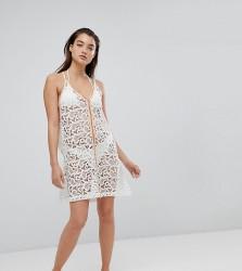 Pitusa Crochet Beach Mini Sundress - White