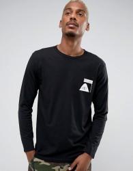 Poler Oddbird Long Sleeve T-Shirt With Sleeve Print - Black