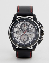 Police Black Watch With Black Multi Functional Dial - Black