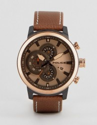 Police Brown Watch With Brown Dial - Brown