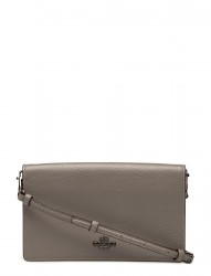Polished Pebble Foldover Crossbody Clutch