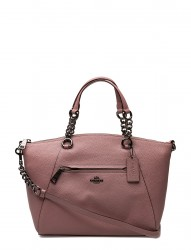 Polished Pebble Lthr Chain Prairie Satchel