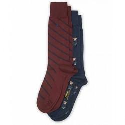 Polo Ralph Lauren 2-Pack Bear Sock Navy/Wine Red
