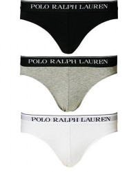 Polo Ralph Lauren 3-Pack Low Rise Brief Black/White/Grey men XXL Sort