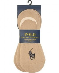 Polo Ralph Lauren 3-Pack No Show Big Pony Pony Socks Beige men One size Beige