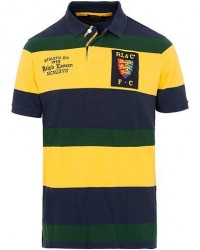 Polo Ralph Lauren Classic Fit Crest Barstripe Polo Yellow/Green/Navy