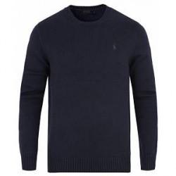 Polo Ralph Lauren Cotton Crew Neck Sweater Hunter Navy