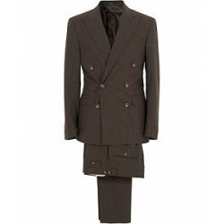 Polo Ralph Lauren Double Breasted Prince of Wales Wool Suit Brown