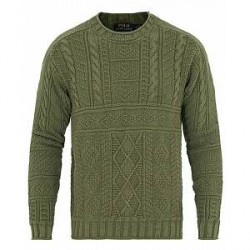 Polo Ralph Lauren Fisherman Cotton Rollneck Washed Forest