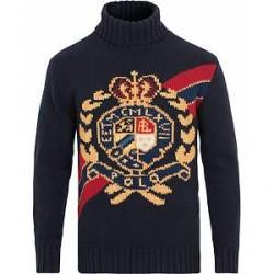 Polo Ralph Lauren Large Crest Wool Rollneck Navy