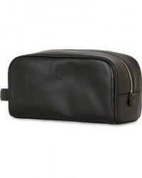 Polo Ralph Lauren Leather Washbag Black men One size Sort