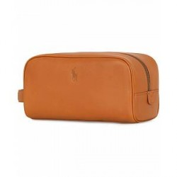 Polo Ralph Lauren Leather Washbag Tan
