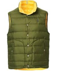 Polo Ralph Lauren Lightweight Down Reversible Vest Olive/Yellow men M Gul