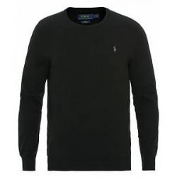 Polo Ralph Lauren Pima Cotton Crew Neck Pullover Polo Black