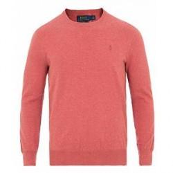 Polo Ralph Lauren Pima Cotton Crew Neck Pullover Sun Red
