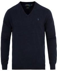 Polo Ralph Lauren Pima Cotton V-neck Pullover Hunter Navy men XL