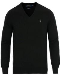 Polo Ralph Lauren Pima Cotton V-neck Pullover Polo Black men L Sort