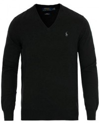 Polo Ralph Lauren Pima Cotton V-neck Pullover Polo Black men S Sort
