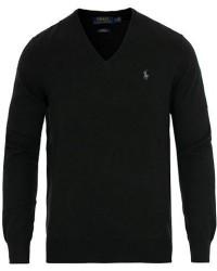 Polo Ralph Lauren Pima Cotton V-neck Pullover Polo Black men S