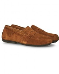 Polo Ralph Lauren Reynold Driving Loafer Snuff Suede men US10 - EU43 Brun