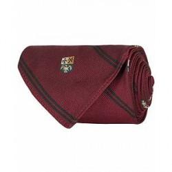 Polo Ralph Lauren Silk Diagonal Crest 8 cm Tie Wine