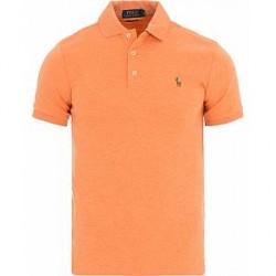 Polo Ralph Lauren Slim Fit Pima Polo Beach Orange Heather