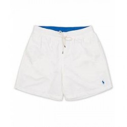 Polo Ralph Lauren Traveler Boxer Swimshorts White