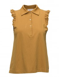 Polo Top W. Ruffle Sleeves