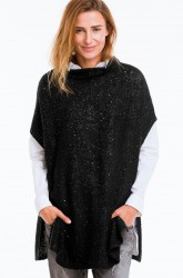 Poncho med pailletter