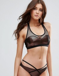 Pour Moi Copper Halter Bikini Top - Gold