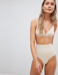 Pour Moi Definitions Shaping Control Thong - Beige