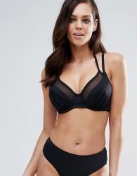 Pour Moi Double Strap Convertible Bikini Top B - G Cup - Black