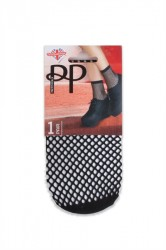 Pretty Polly - Strømper - Ropenet Ankle High Sock - Black