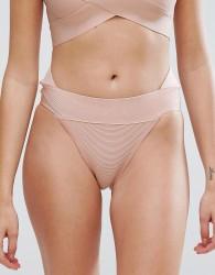 PrettyLittleThing Bandage Bikini Bottoms - Beige