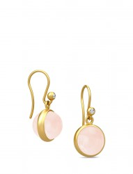 Prime Earring - Gold/Milky Rose
