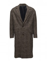 Prince Of Wales Wool-Blend Coat