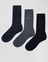 Pringle Endrick Socks In 3 Pack - Blue