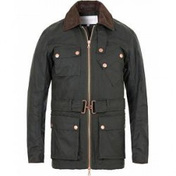 Private White V.C. Waxed Twin Track Jacket Olive