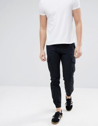 Produkt Cargo Trousers With Cuff - Black