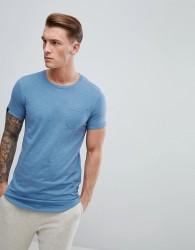 Produkt Longline T-Shirt With Curved Hem - Blue