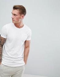 Produkt Longline T-Shirt With Curved Hem - White