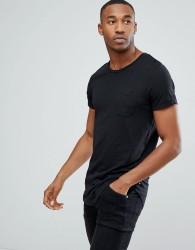 Produkt Longline T-Shirt With Pocket - Black